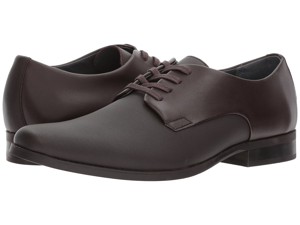 Calvin Klein Jasper (Dark Brown Soft Leather/City Emboss) Men