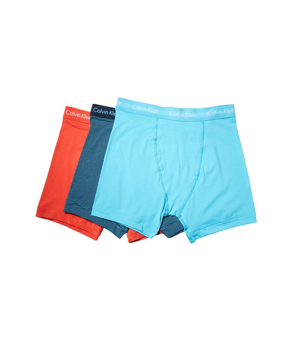 Calvin Klein Underwear - Cotton Stretch Boxer Brief 3-Pack NU2666 (Vibration/Intuition/Athenian Stripe/Athenian Blue) Men's Underwear