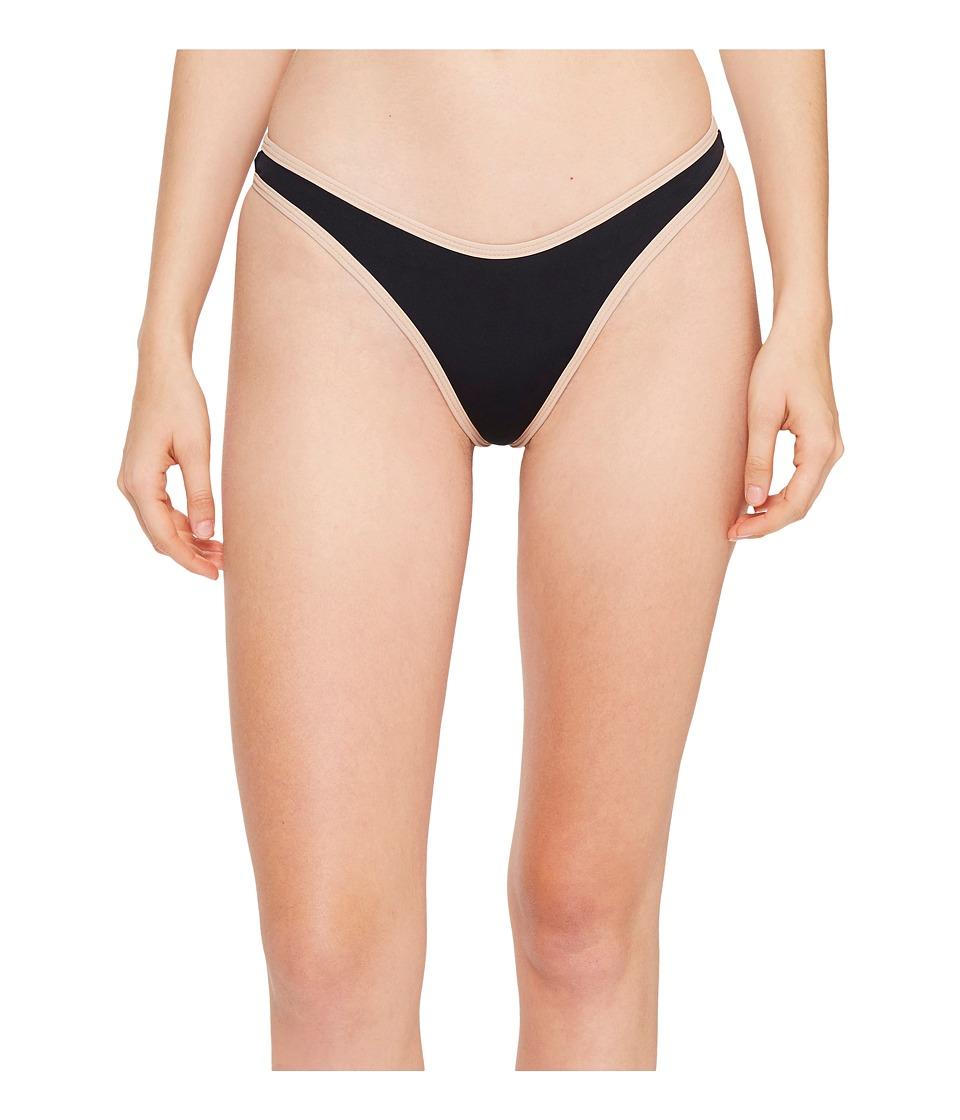 L*Space - Color Block Whiplash Bottom (Black/Skin) Women's Swimwear