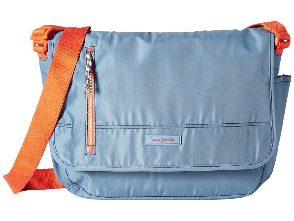 Vera Bradley - Laptop Messenger (Mineral Blue) Messenger Bags
