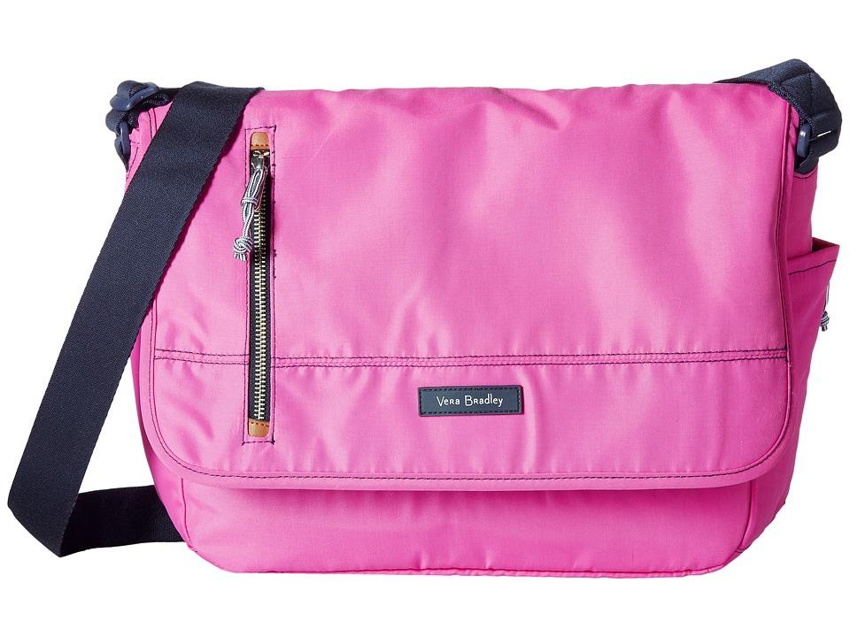 Vera Bradley - Laptop Messenger (Bright Orchid) Messenger Bags