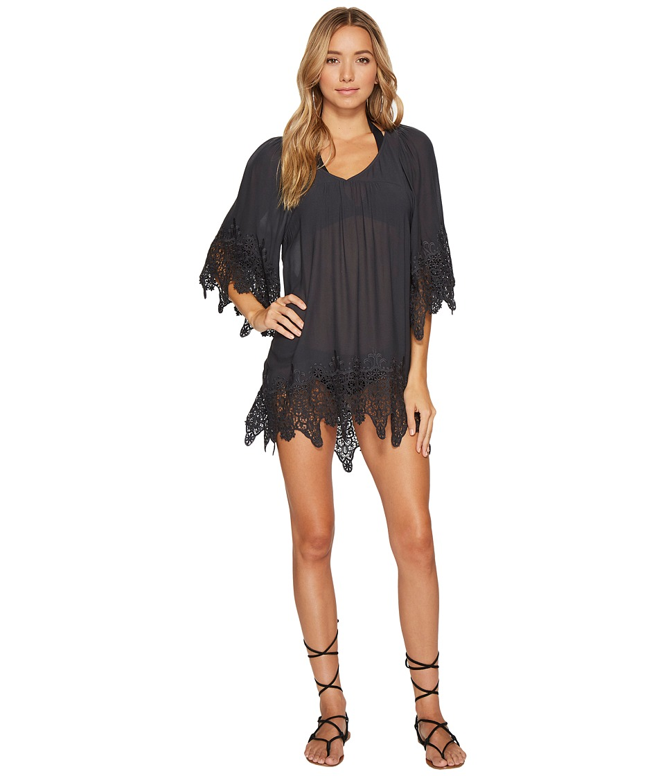 L*Space Native Springs Tunic Cover-Up (Charcoal) Women
