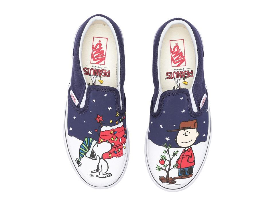 Vans Kids Classic Slip-On x Peanuts Christmas (Little Kid/Big Kid) ((Peanuts) Charlie/Tree) Kids Shoes