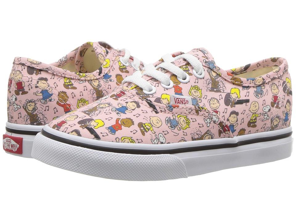 Vans Kids Authentic x Peanuts (Toddler) ((Peanuts) Dance Party/Pink) Kids Shoes