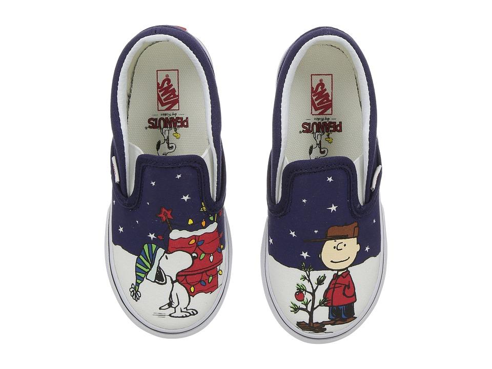 Vans Kids Classic Slip-On x Peanuts Christmas (Toddler) ((Peanuts) Charlie/Tree) Kids Shoes