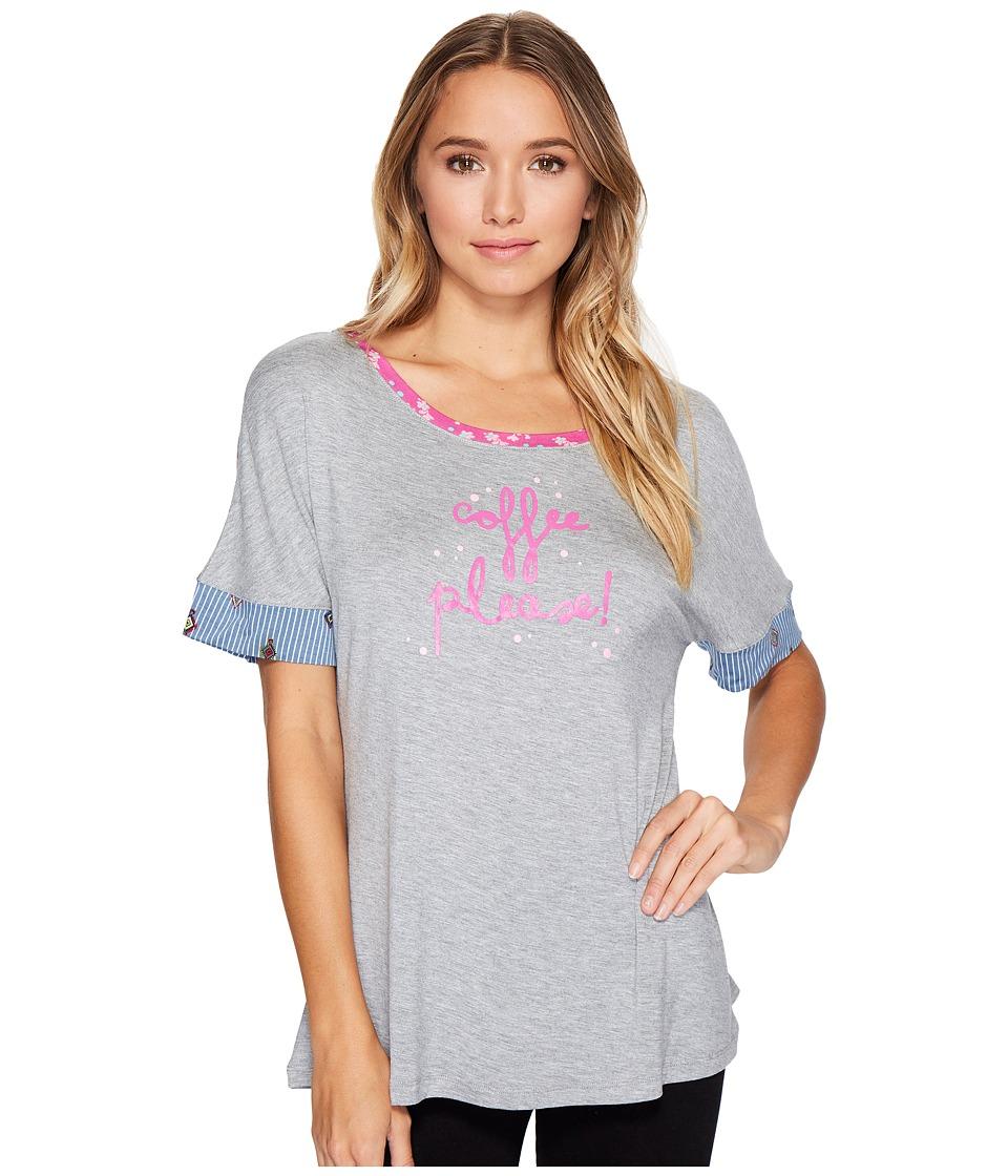 Vera Bradley - Knit Pajama Tee (Coffee Please) Women's Pajama