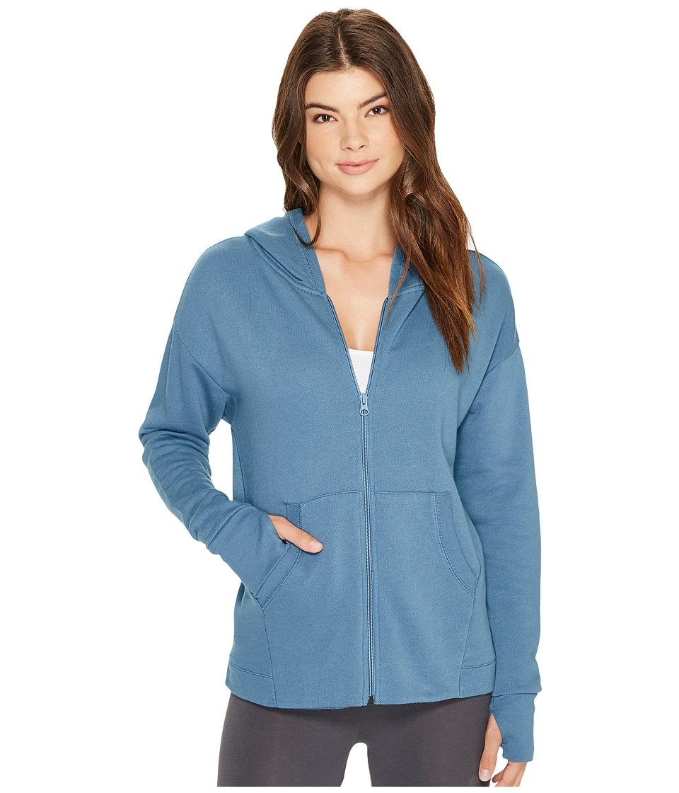 Vera Bradley - New Jersey Lined Lounge Hoodie (Mineral Blue) Women's Sweatshirt
