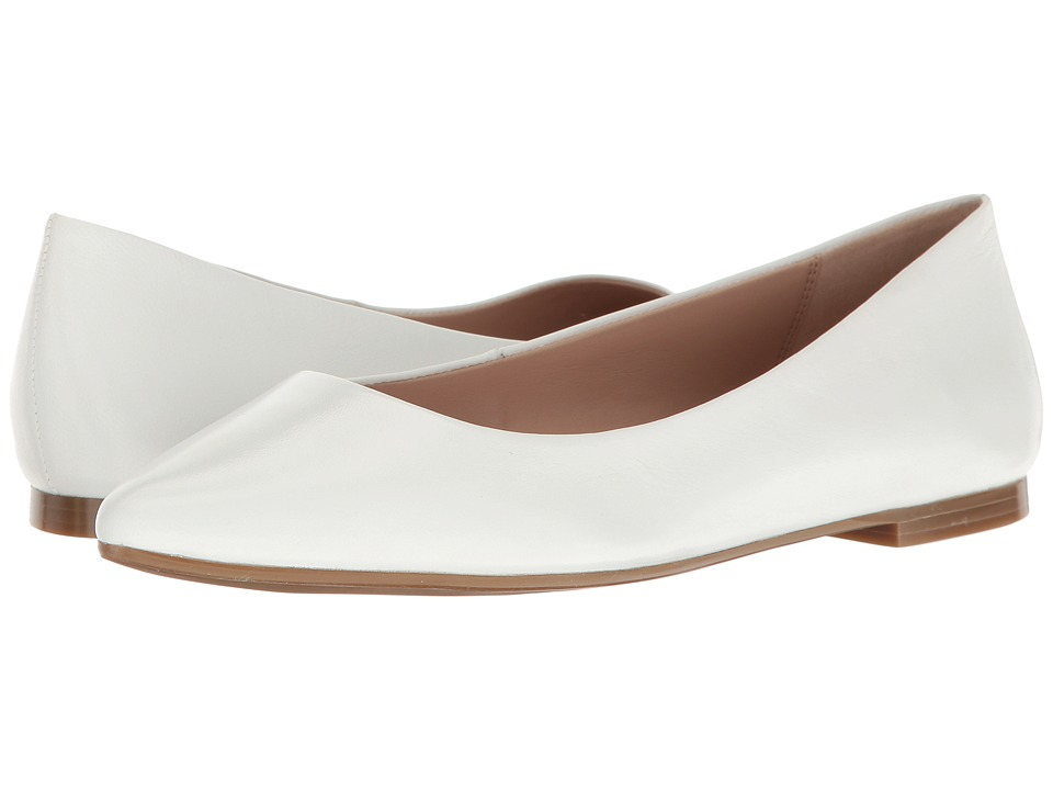 BCBGeneration - Millie (White Leather) Women's Flat Shoes