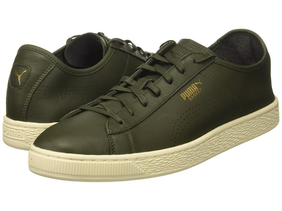 PUMA - Basket Classic Soft (Olive Night) Men's Shoes