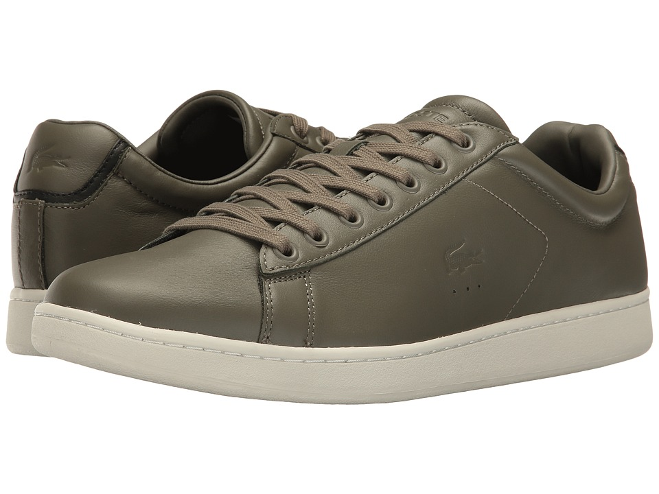 Lacoste - Carnaby EVO 416 1 (Khaki) Men's Shoes