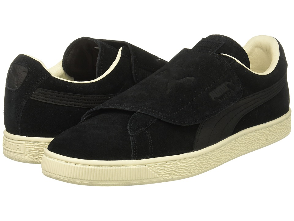 PUMA - Suede Wrap Color Blocked (Puma Black/Puma Black) Men's Classic Shoes