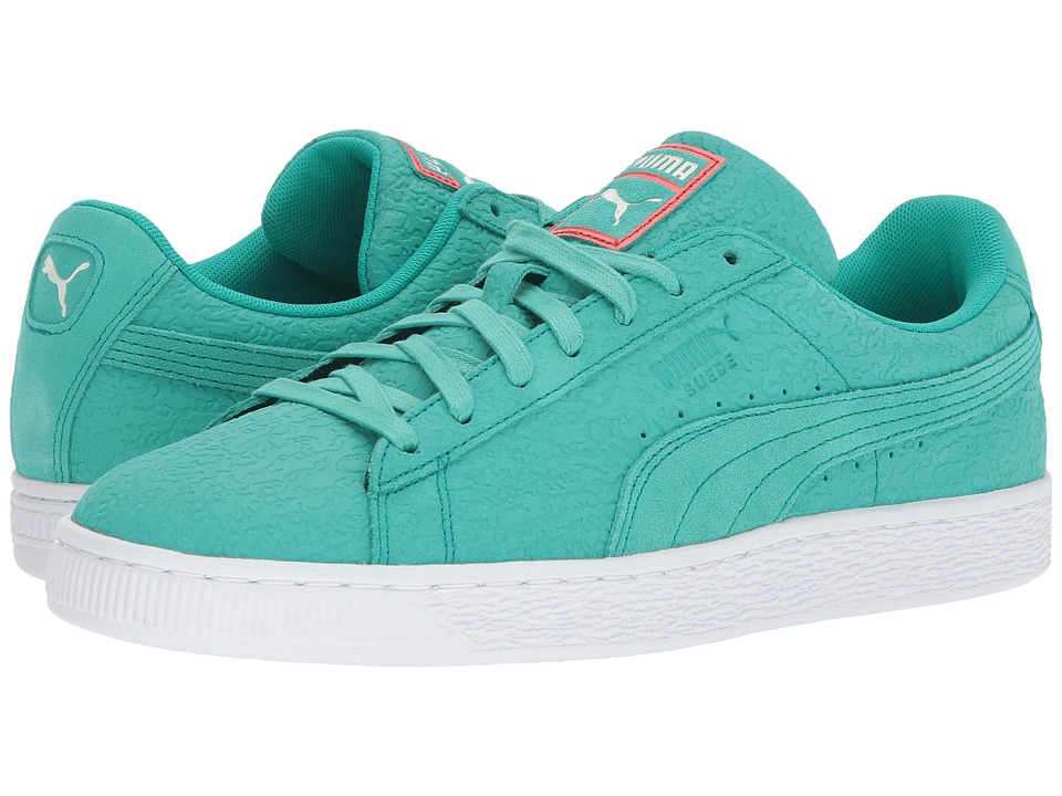 PUMA - Suede Caribbean Reef (Spectra Green/Birch) Men's Shoes