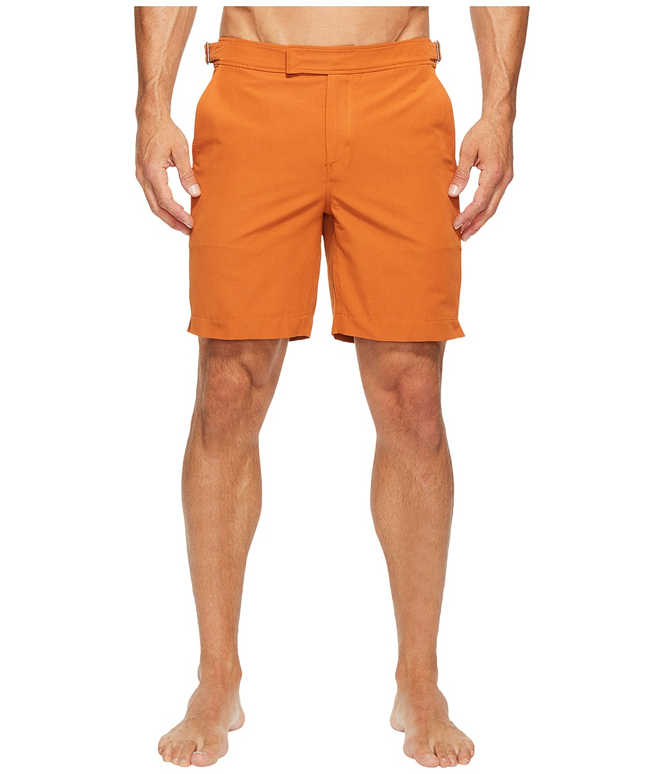 Exley NB - 7 Inch Bristol Swim Shorts (Rusted Orange) Men's Swimwear
