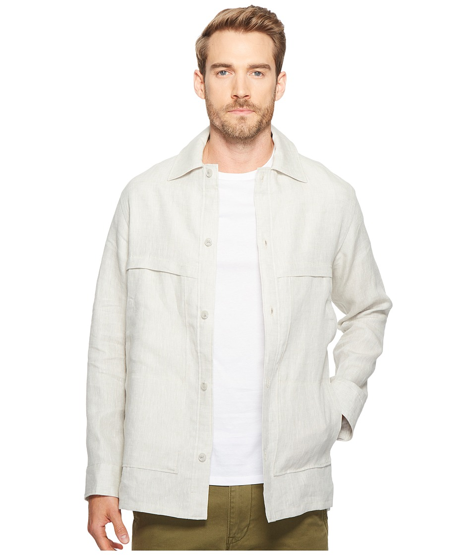 Exley NB - Linen Overshirt (Off-White) Men's Clothing