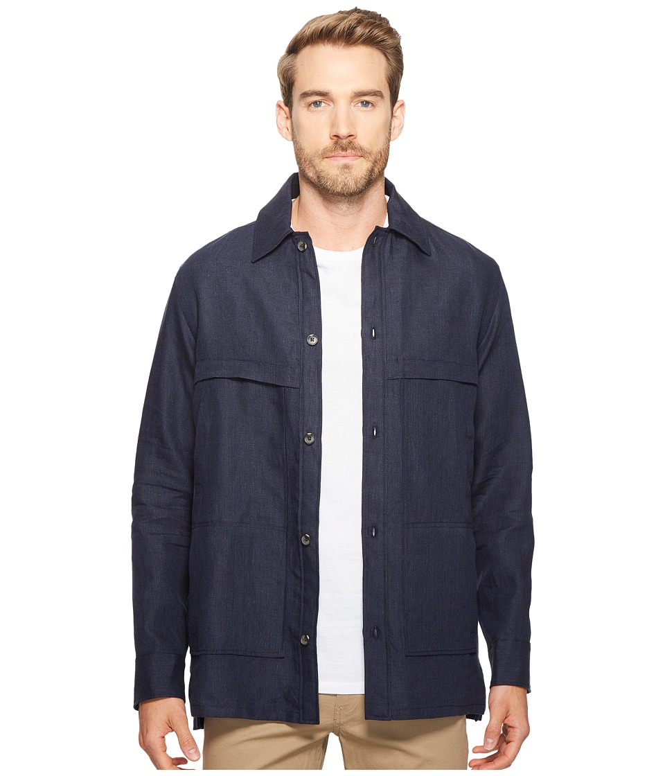 Exley NB - Linen Overshirt (Deep Atlantic) Men's Clothing