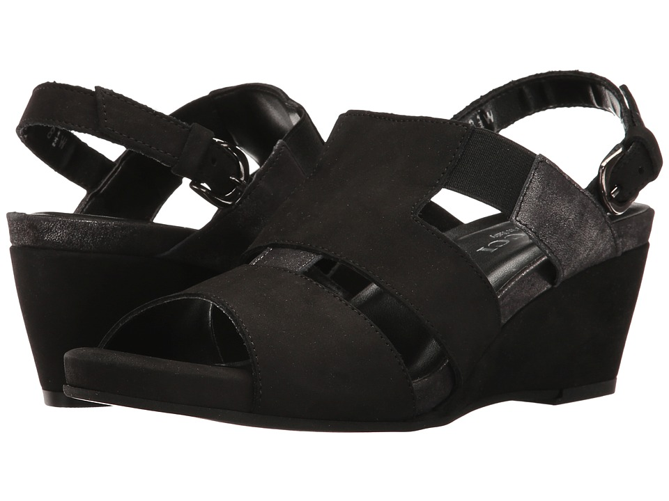 Sesto Meucci - Kayla (Black Nubuck/Black Retro) Women's Shoes