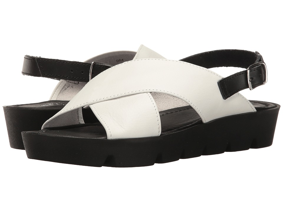 Sesto Meucci - Sygrid (White Calf/Black Vacchetta) Women's Shoes