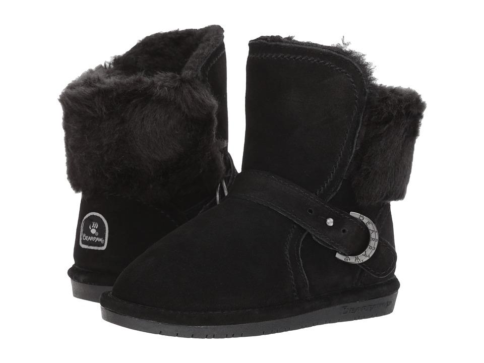 Bearpaw Kids - Koko (Little Kid/Big Kid) (Black/Black) Girl's Shoes