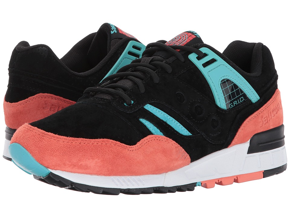 Saucony Originals - Grid SD (Black/Coral/Blue) Shoes
