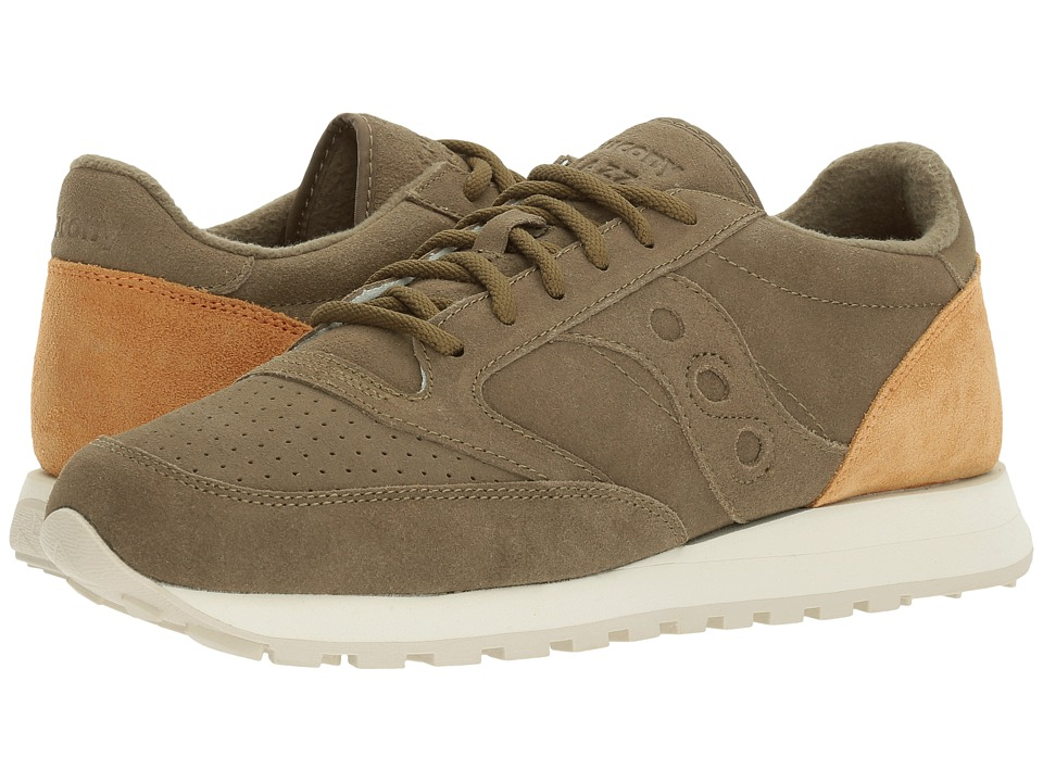 Saucony Originals - Jazz O Premium Suede (Olive) Shoes
