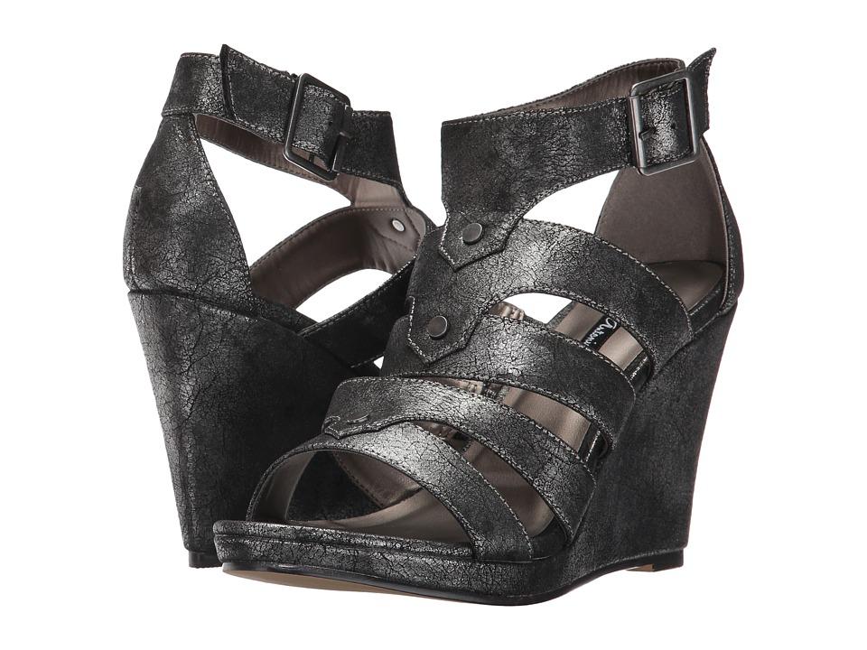 Michael Antonio - Kikki-Met (Pewter Metallic PU) Women's Wedge Shoes