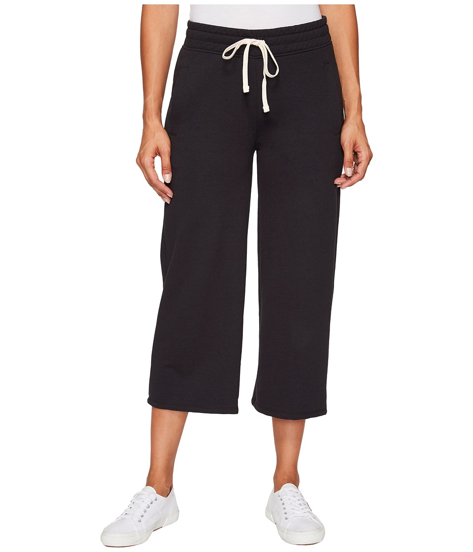 Alternative - Vintage French Terry Sunday Terry Culotte (Black) Women's Clothing