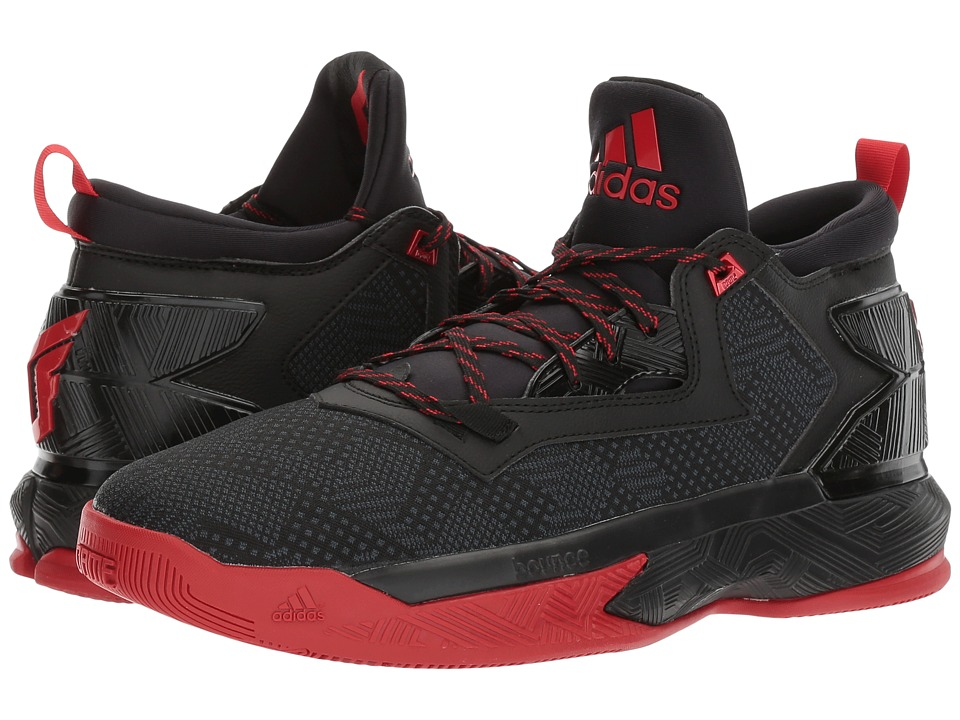 adidas D Lillard 2 (Black/Scarlet/Black) Men