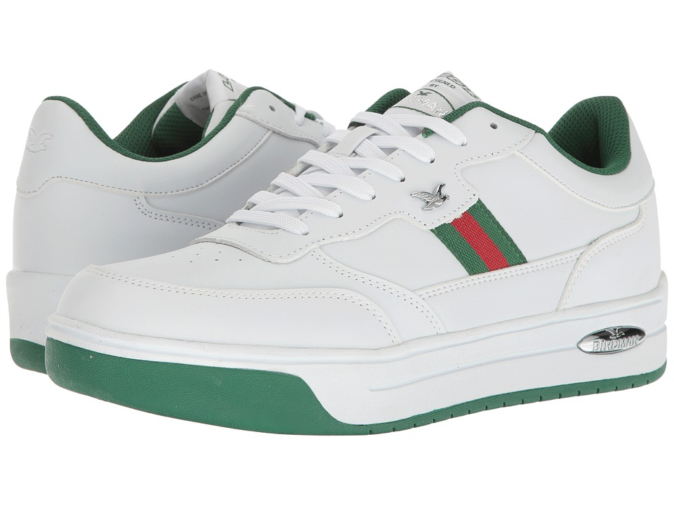 Lugz - Birdman (White/Hunter Green/Crimson Red) Men's Shoes