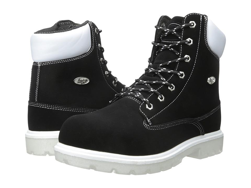 Lugz - Empire Hi TL (Black/White/Clear) Men's Shoes