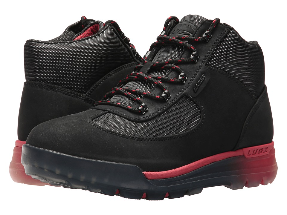 Lugz - Flank (Black/Mars Red/Clear) Men's Shoes