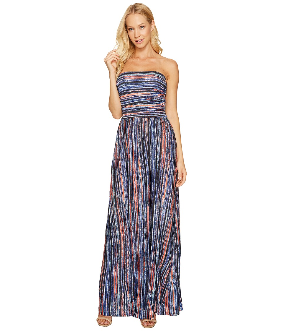 Three Dots Strapless Maxi Dress (Night Iris Combo) Women