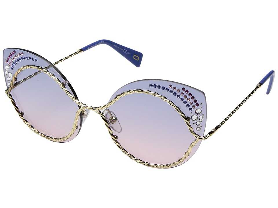 Marc Jacobs - Marc 161/S/STR (Blue Pink with Blue Gradient Lens) Fashion Sunglasses