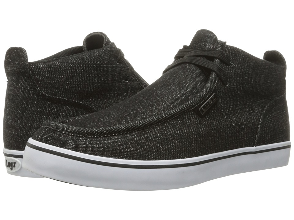 Lugz Strider Denim (Black/White) Men's Shoes