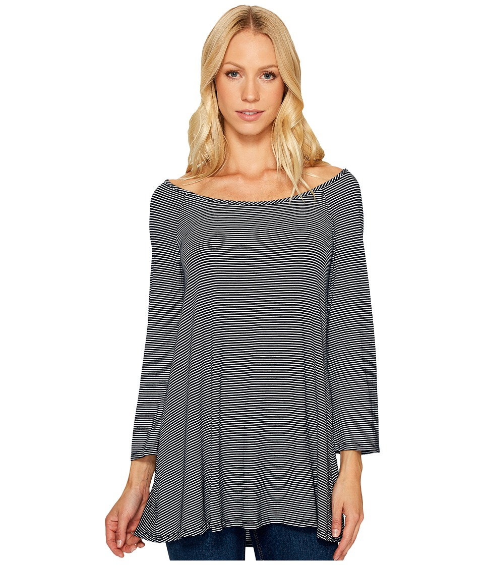 Three Dots - 3/4 Sleeve Top (Night Iris) Women's Clothing