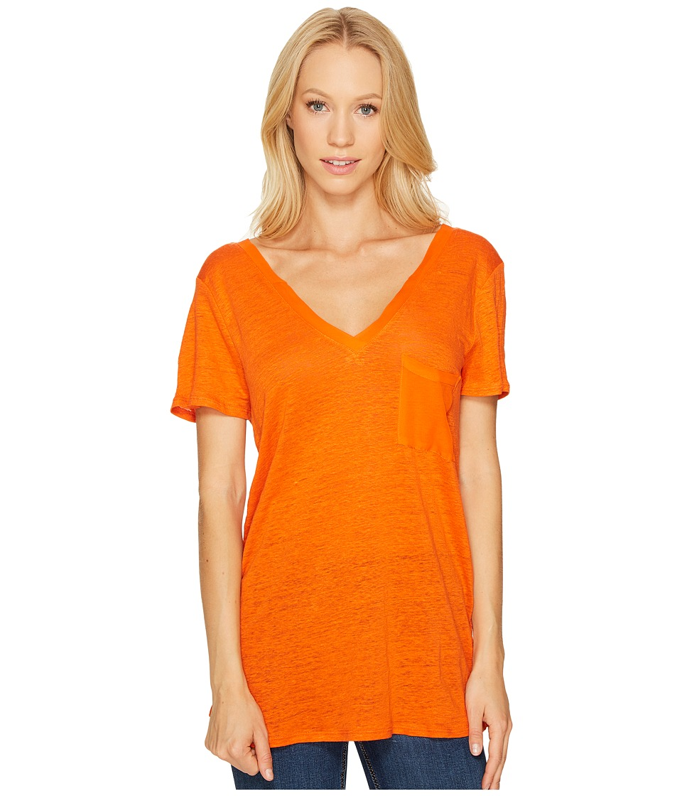 Three Dots - Flutter Sleeve Tee (Hot Sun) Women's T Shirt