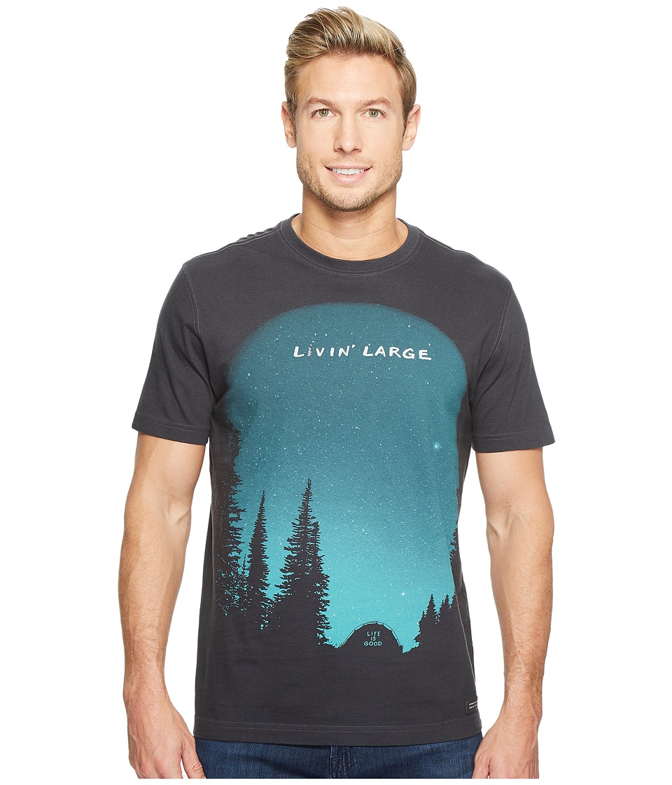 Life is Good - Livin' Large Camp Crusher Tee (Night Black) Men's T Shirt