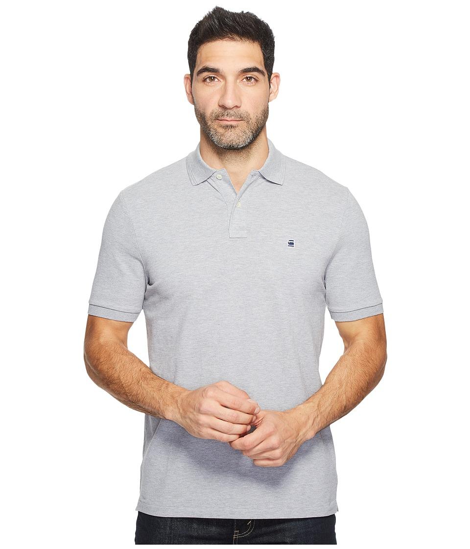 G-Star - Dunda Polo T Short Sleeve (Grey Heather) Men's Short Sleeve Pullover