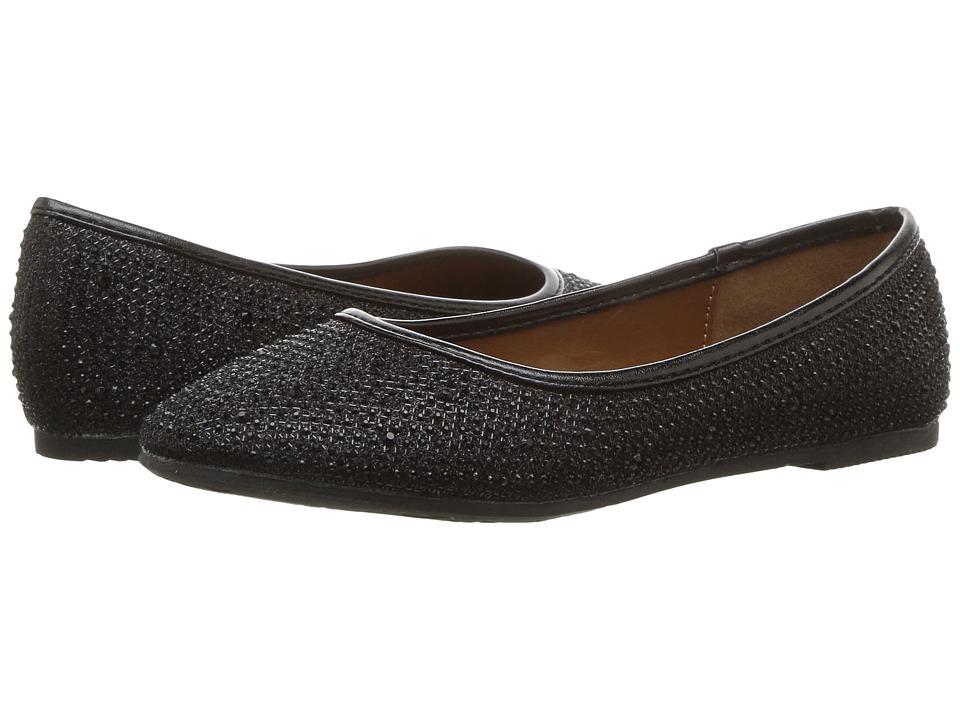 kensie girl Kids Studded Flat (Little Kid/Big Kid) (Black) Girls Shoes