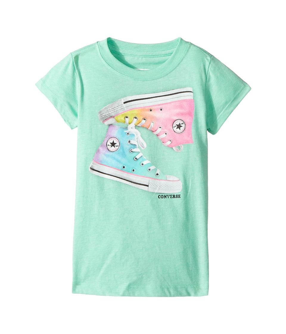 Converse Kids - Ombre Chucks Tee (Toddler/Little Kids) (Green Glow) Girl's T Shirt