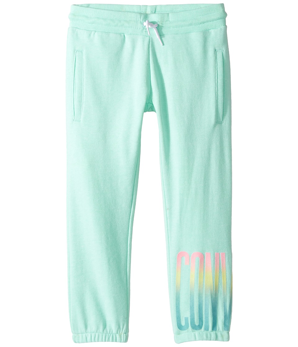 Converse Kids - Ombre Capri Joggers (Big Kids) (Green Glow) Girl's Casual Pants