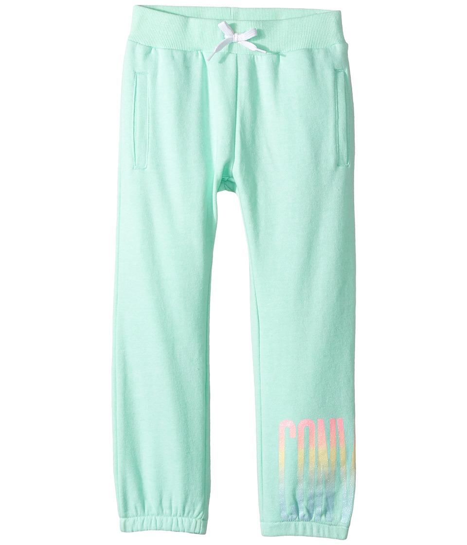 Converse Kids - Ombre Capri Joggers (Little Kids) (Green Glow) Girl's Casual Pants