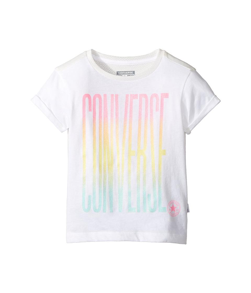 Converse Kids - Ombre Tee (Little Kids) (White) Girl's T Shirt