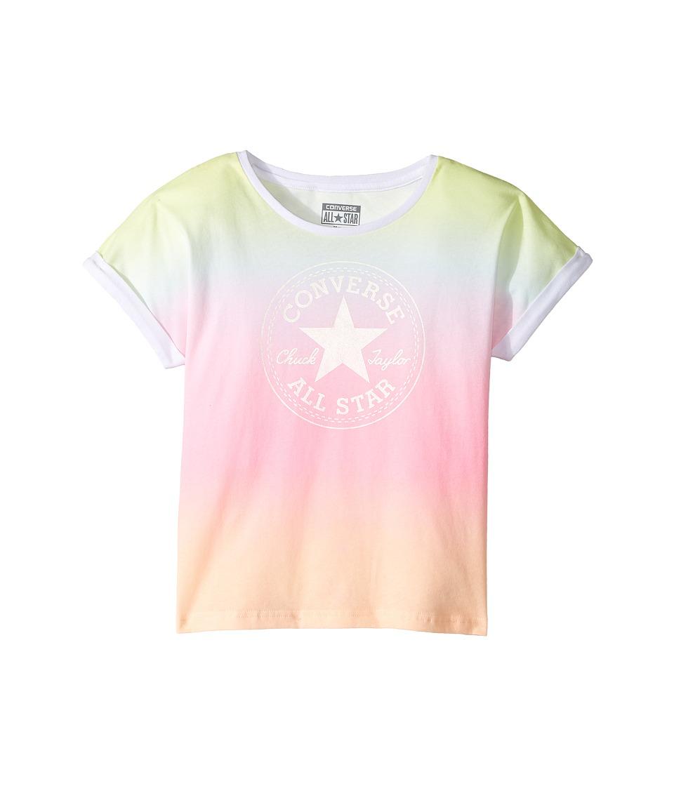Converse Kids - Boxy Crop Tee (Big Kids) (Ombre Stripe) Boy's T Shirt