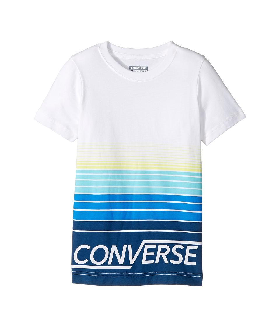 Converse Kids - Multi Stripe Tee (Little Kids) (White) Boy's T Shirt