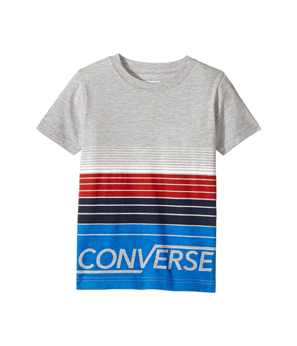 Converse Kids - Multi Stripe Tee (Little Kids) (Dark Grey Heather) Boy's T Shirt