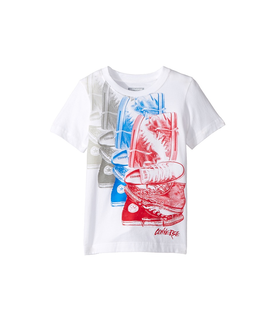 Converse Kids - Chuck Repeat Tee (Toddler/Little Kids) (White/Red) Boy's T Shirt