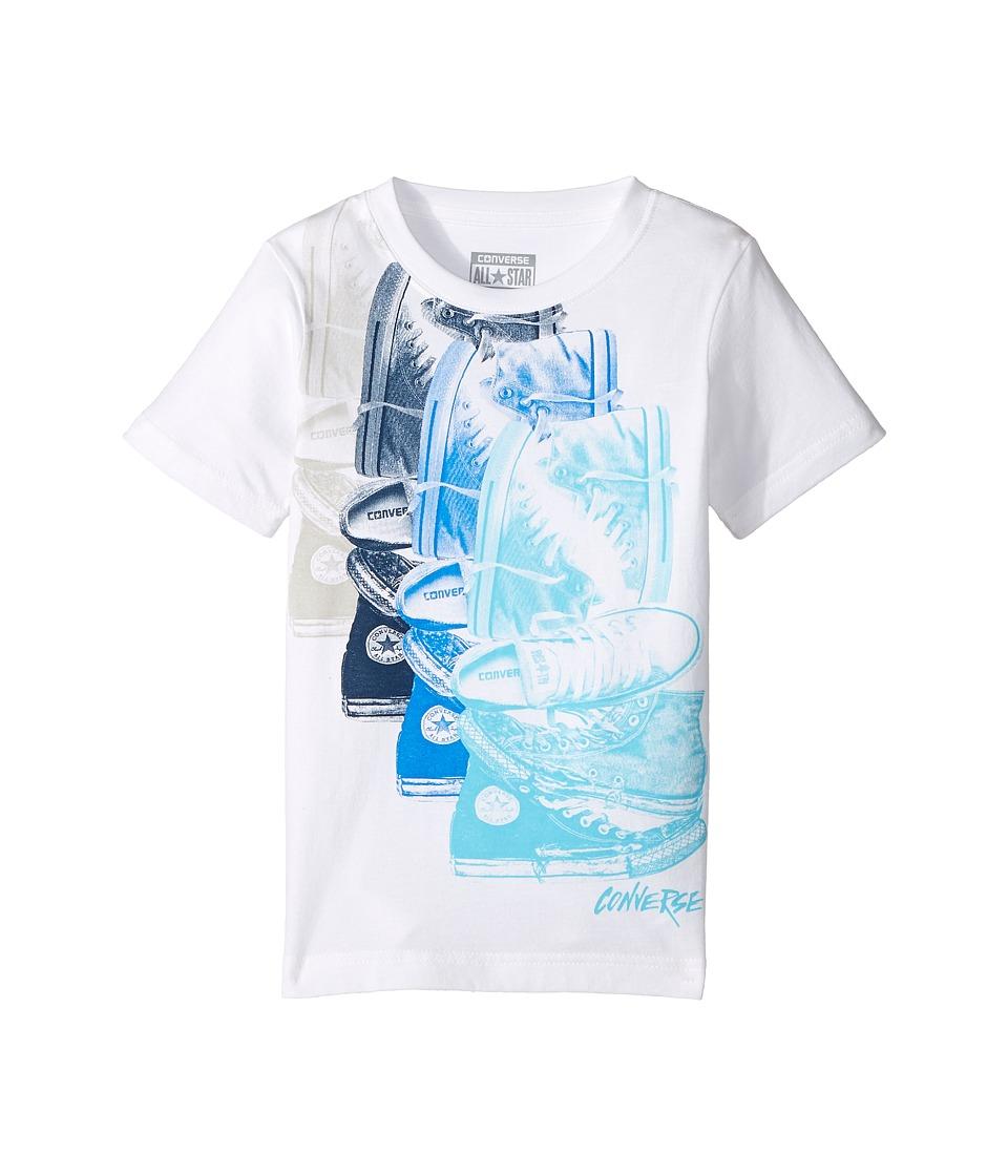 Converse Kids - Chuck Repeat Tee (Toddler/Little Kids) (White/Soar) Boy's T Shirt