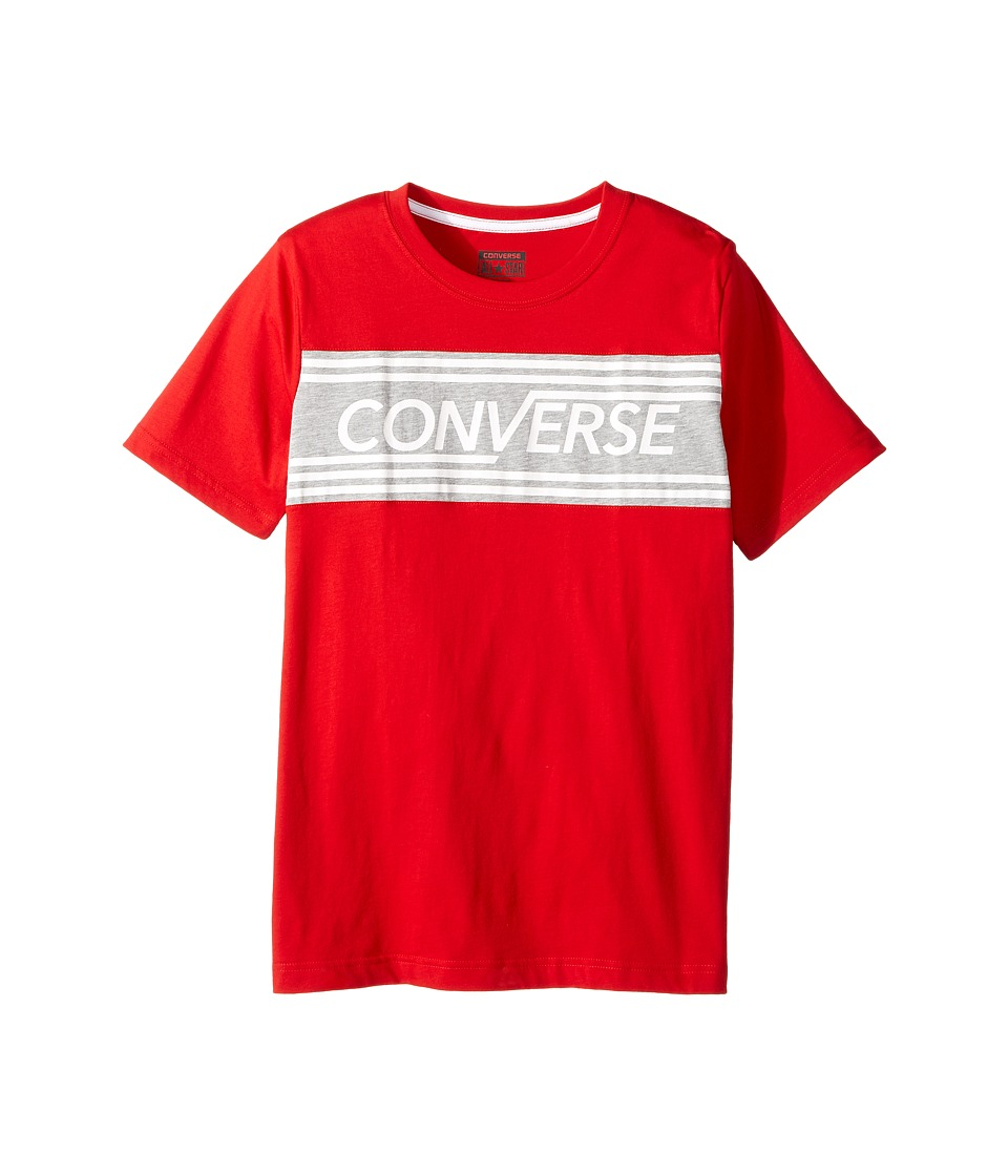 Converse Kids - Retro Tee (Big Kids) (Red) Boy's T Shirt