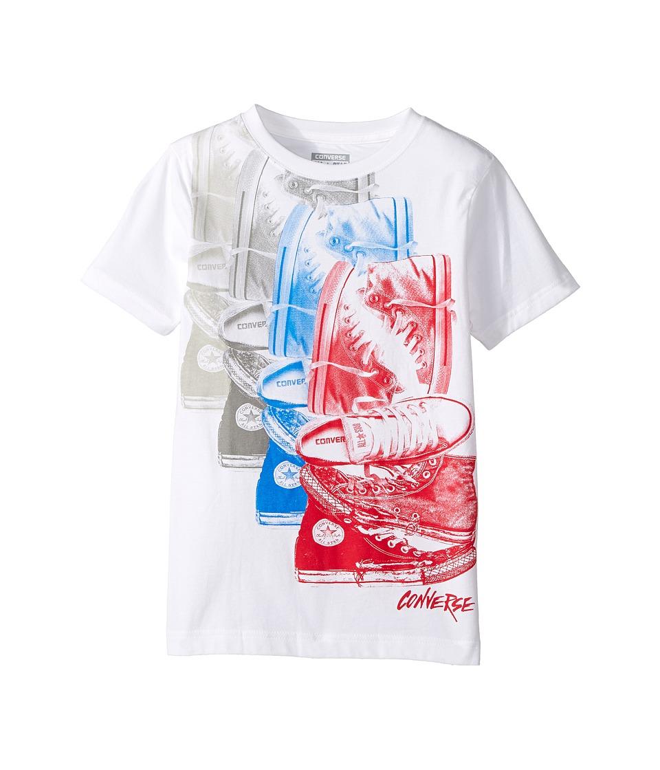Converse Kids - Chuck Repeat Tee (Big Kids) (White/Red) Boy's T Shirt