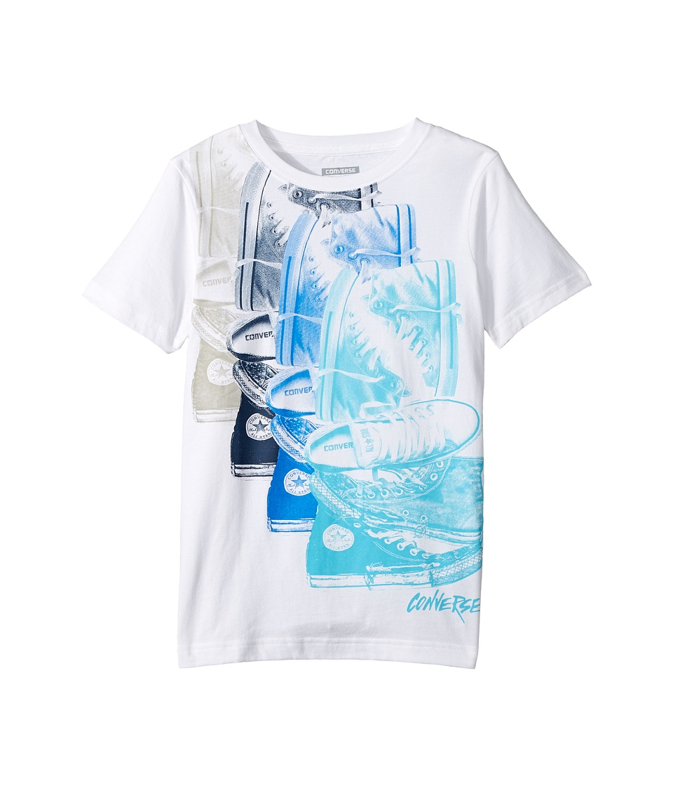 Converse Kids - Chuck Repeat Tee (Big Kids) (White/Soar) Boy's T Shirt